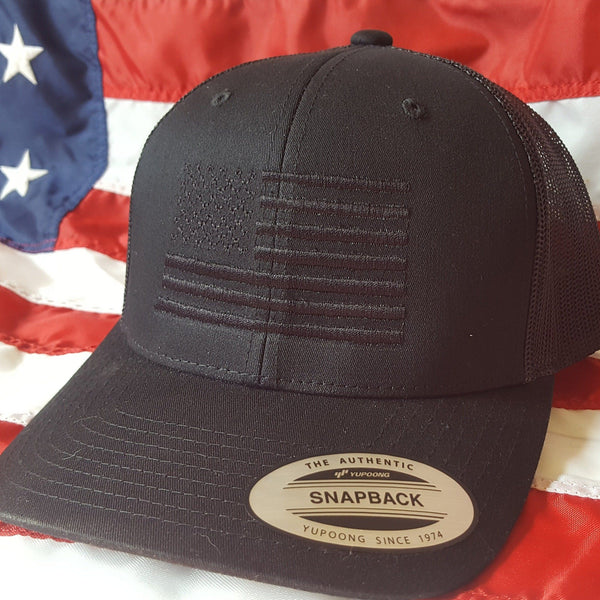 Blackout Flag Snapback Trucker Hat