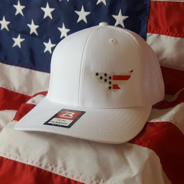 The Richardson Fitted Trucker Eagle Six Hat
