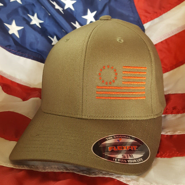 The Olive Betsy Ross Flexfit Side Flag Hat