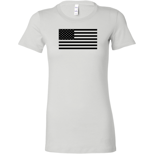 Black USA Flag Women's T-Shirt