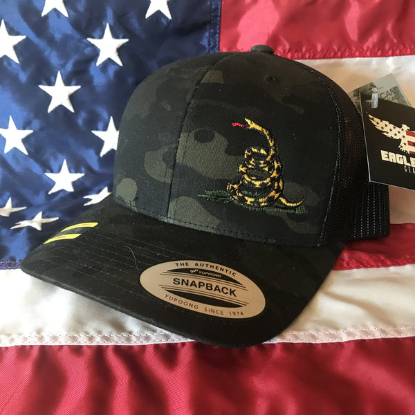 Don't Tread on Me Black Multicam Trucker Hat