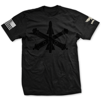 Choose Your Rank Blackout U.S. Army Air Defense Artillery Tee