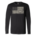 R.E.D. - Remember Everyone Deployed US Flag Long Sleeve