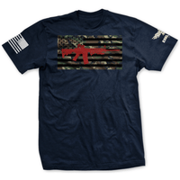 AR-15 Camo Flag Shirt