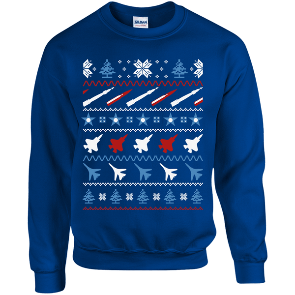 Air Force Themed Ugly Christmas Sweater