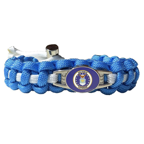 Air Force Veteran Paracord Bracelet
