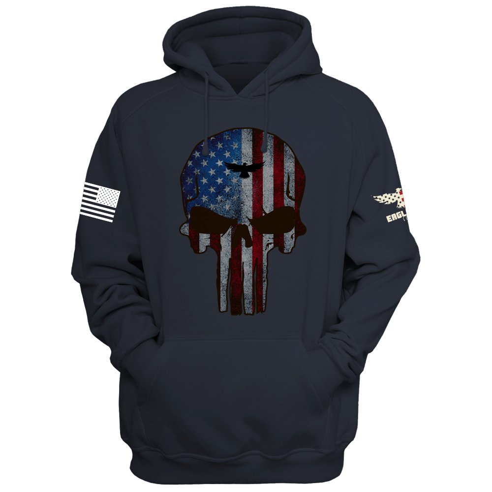 best website c17d6 1fa1b American Fearless Patriot Skull Hoodie