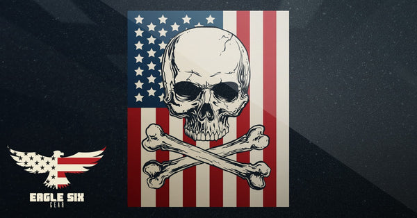 American Patriot Skull 'n' Bones Decal
