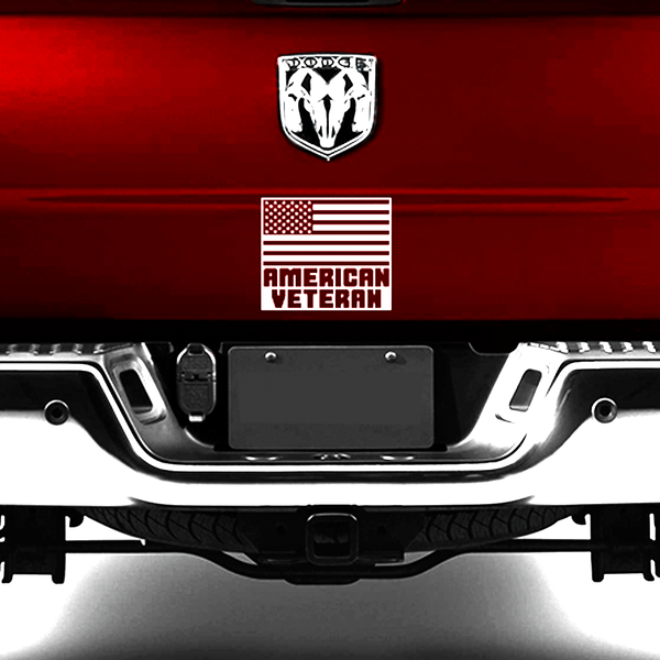 "American Veteran Decal (10"" x 8 1/2"")"