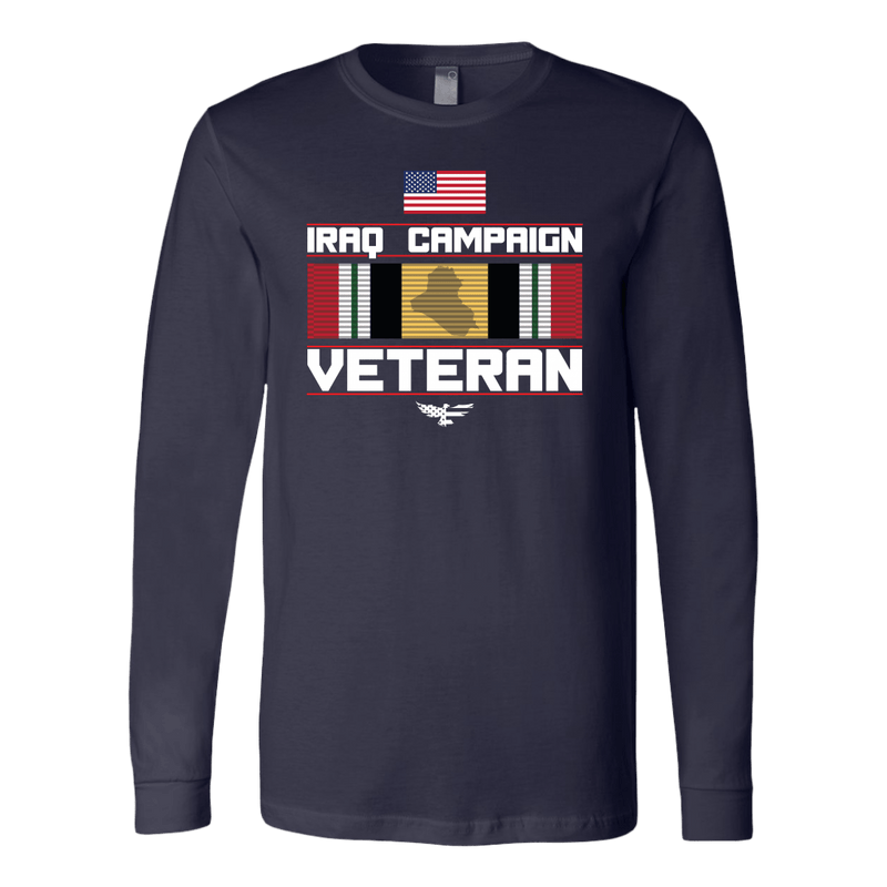 Iraq Ribbon American Made Long Sleeve