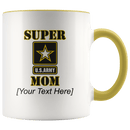Personalized Super Army Mom 11oz Mug