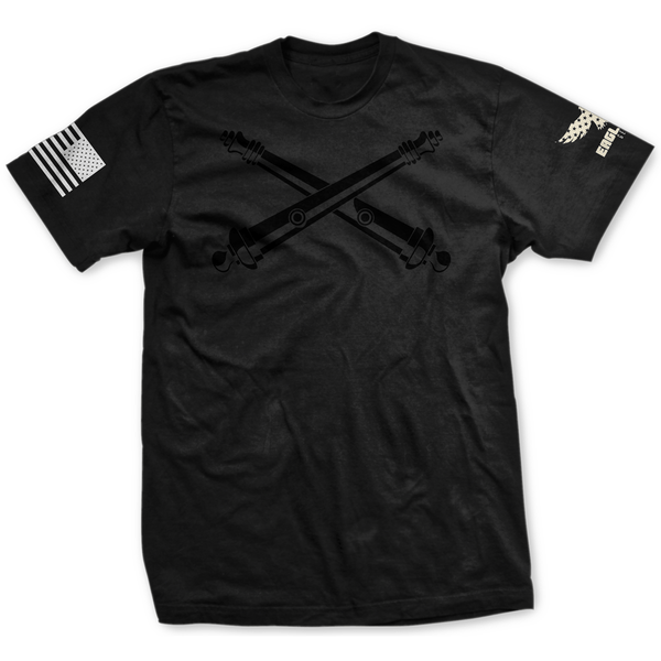 Blackout U.S. Army Artillery Badge Tee