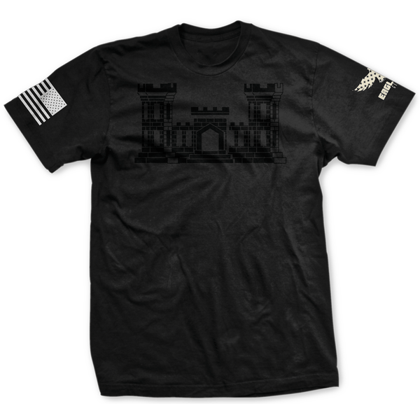 Blackout U.S. Army Engineer Badge Tee