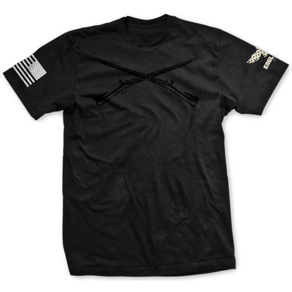 Blackout U.S. Army Infantry Badge Tee
