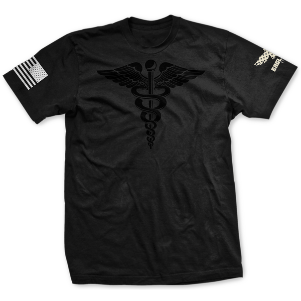 Blackout U.S. Army Medical Corps Badge Tee