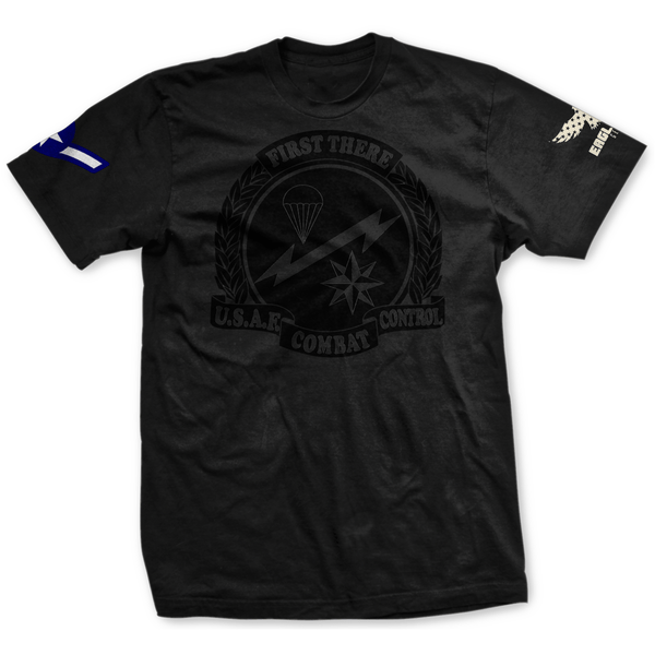 Choose Your Rank Blackout USAF Combat Control Tee