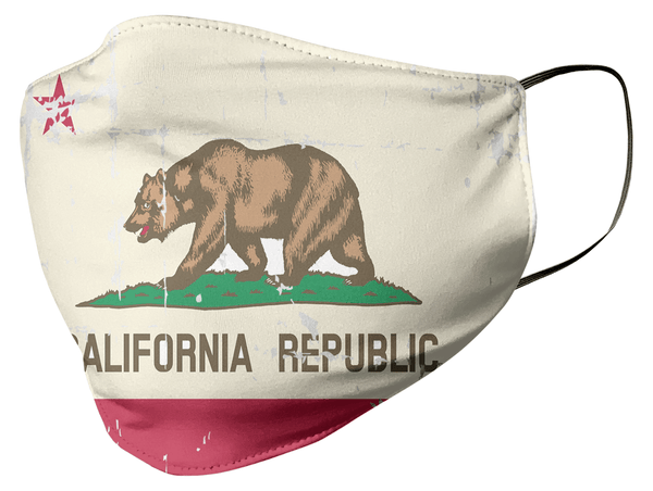 California State Flag Face Mask