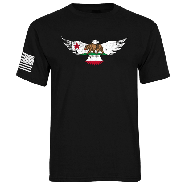 California Flag Eagle Tee
