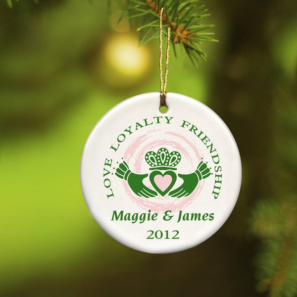 Personalized Irish Ceramic Christmas Ornaments