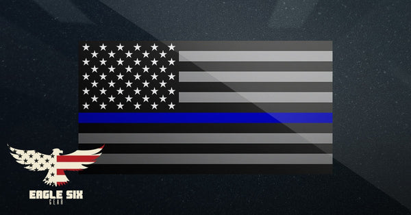 "Cop Flag Decal 6"" x 4"""
