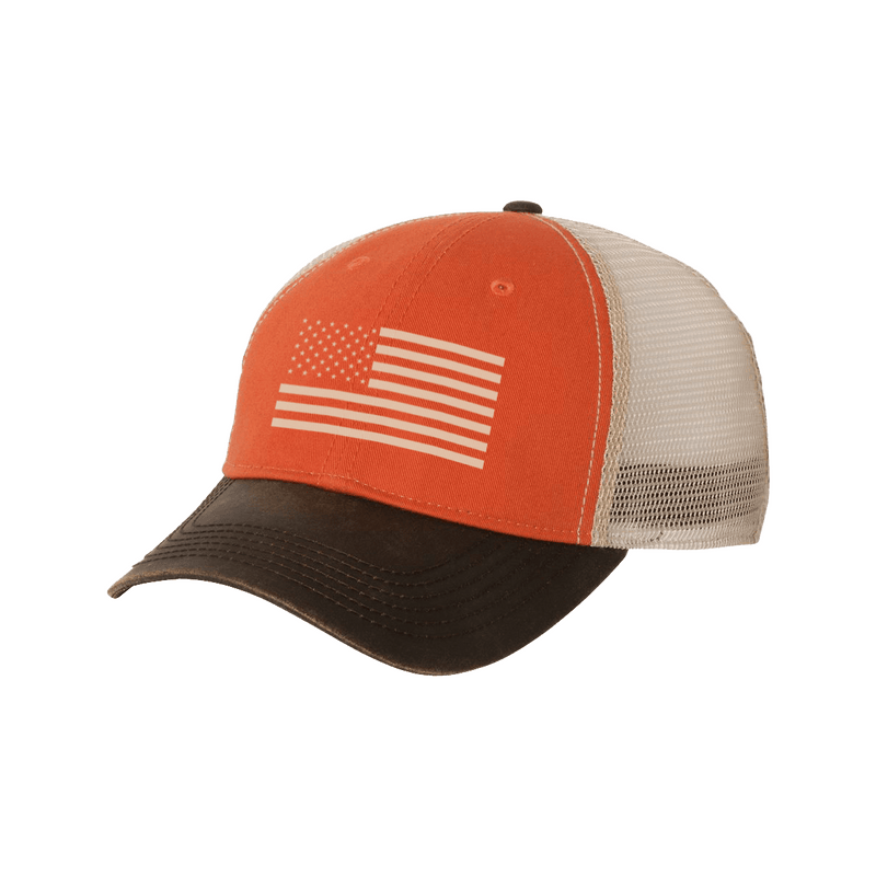 American Flag DRI DUCK Mesh-Back Adjustable Field Hat