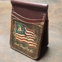 Don't Tread on Me Handmade Leather Wallet