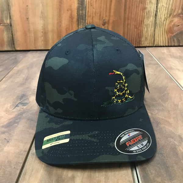 Don't Tread On Me Flexfit Black Multicam Hat