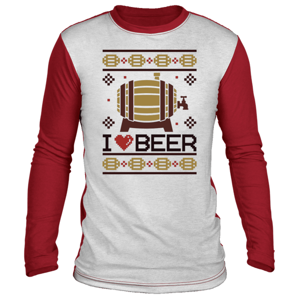 I Love Beer Ugly Raglan Sweater