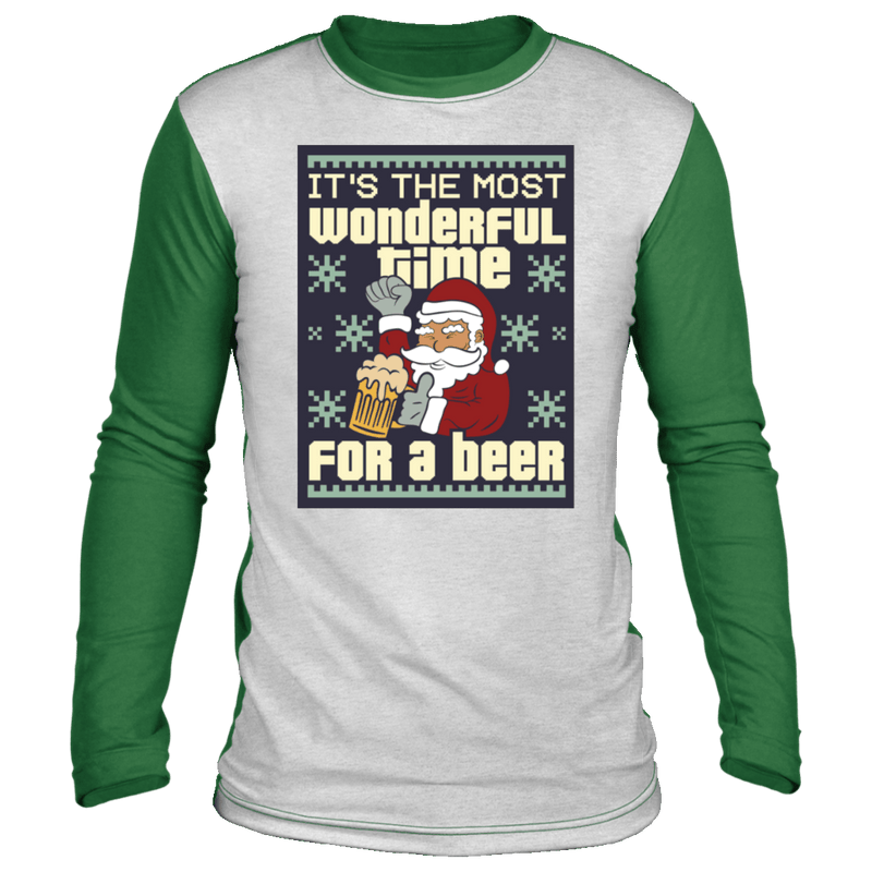 Wonderful Time For A Beer Ugly 'Sweater' Long Sleeve