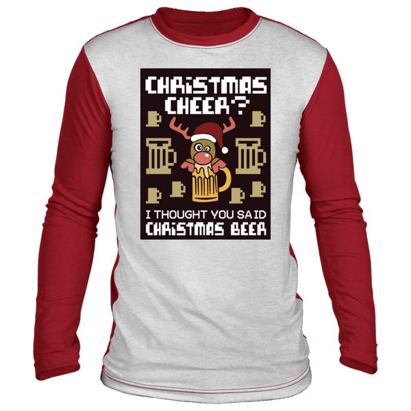 Christmas Cheer Ugly Raglan Sweater