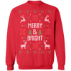 Merry & Bright Ugly Christmas Sweater