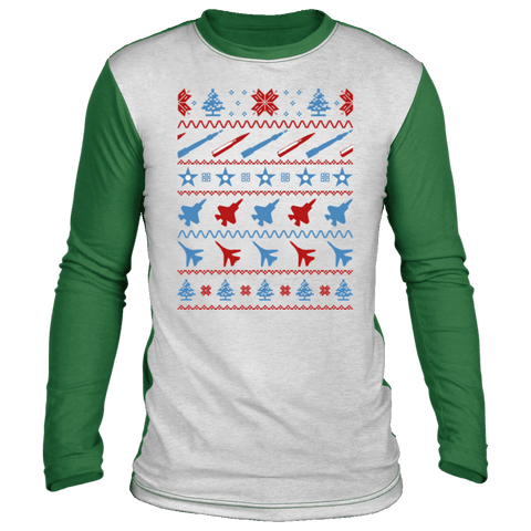 Image of Air Force Ugly Christmas 'Sweater' Long Sleeve