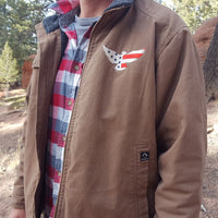 E6G DRI DUCK - 5037 Canvas Jacket with Sherpa Lining