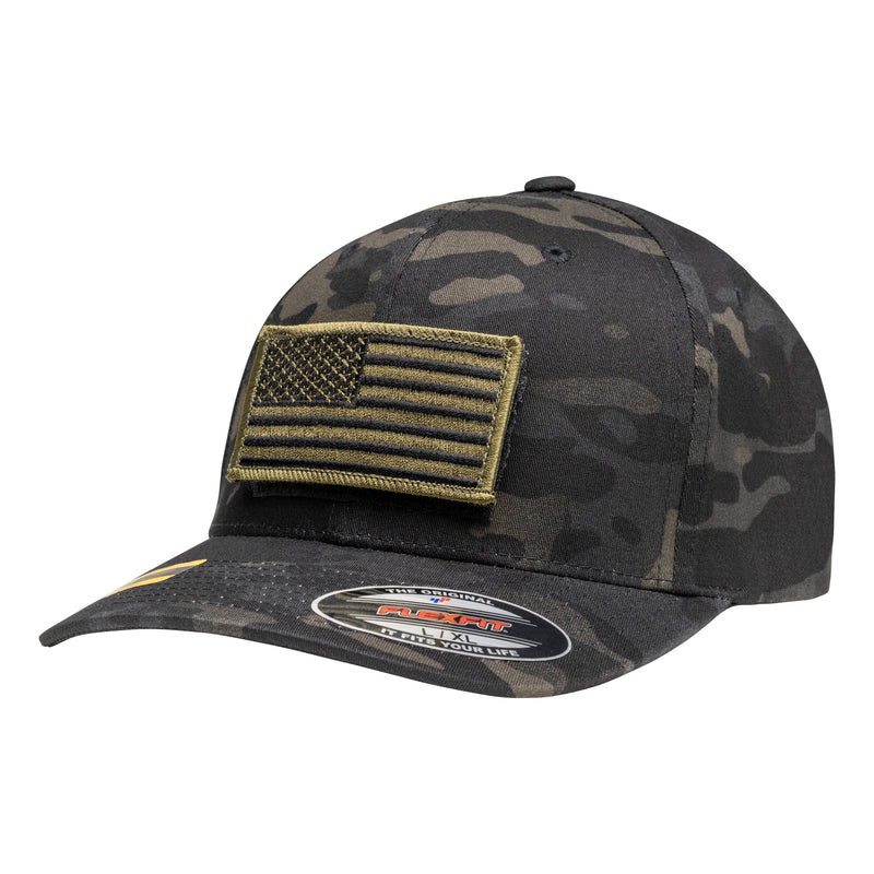 Officially Licensed Multi Cam Tactical Operator Hat with FREE Olive Drab Flag Patch