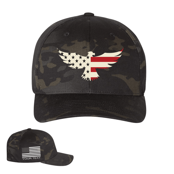 Eagle Six Personalized Black Multicam Hat