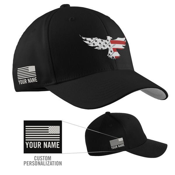 Personalize My Cap with Flag and Text  (cap must be purchased separately).