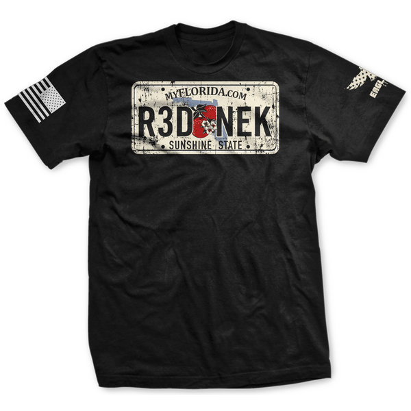 Florida Rednek License Plate Tee