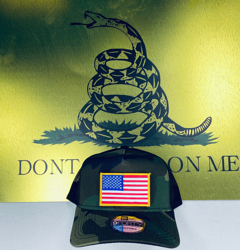 New Era Trucker Flag Patch Hat