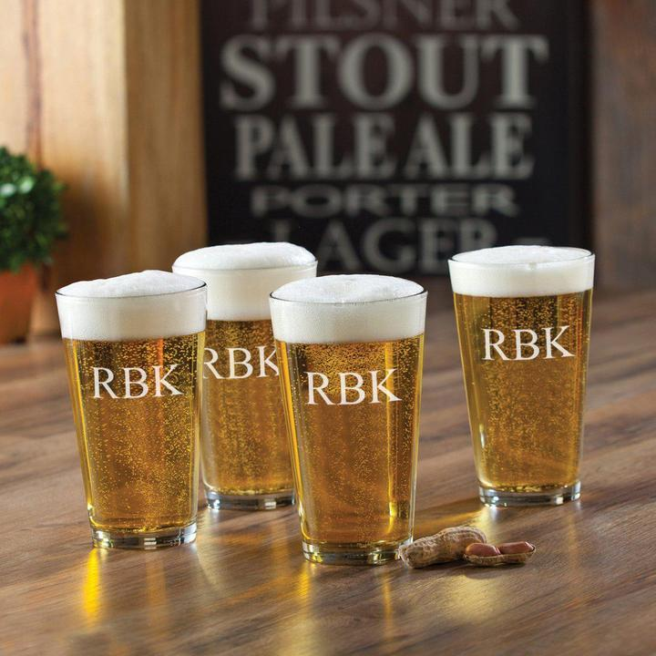 Personalized Set of 4 Pub Glasses