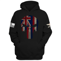 Hawaii Fearless Patriot Skull Hoodie