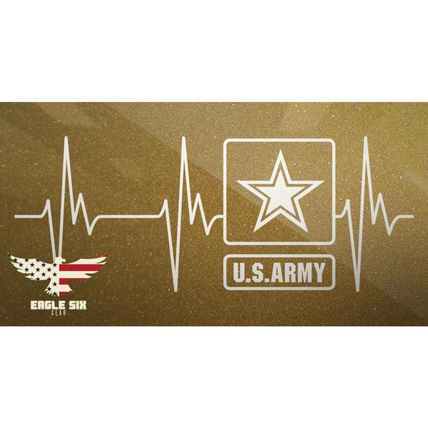 Army Heartbeat Decal