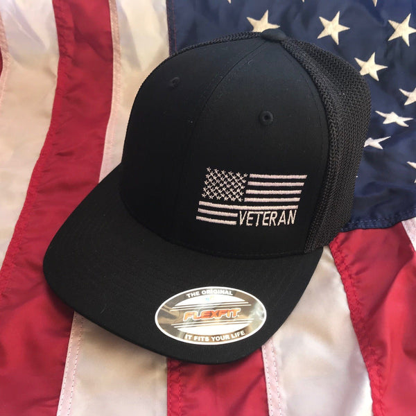 Veteran Side Flag Stretch Trucker Cap