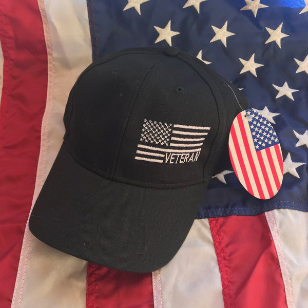 American Made Veteran Side Flag Dad Hat