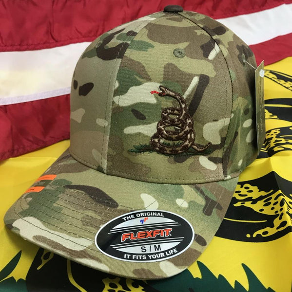 Don't Tread On Me Flexfit Multicam Hat
