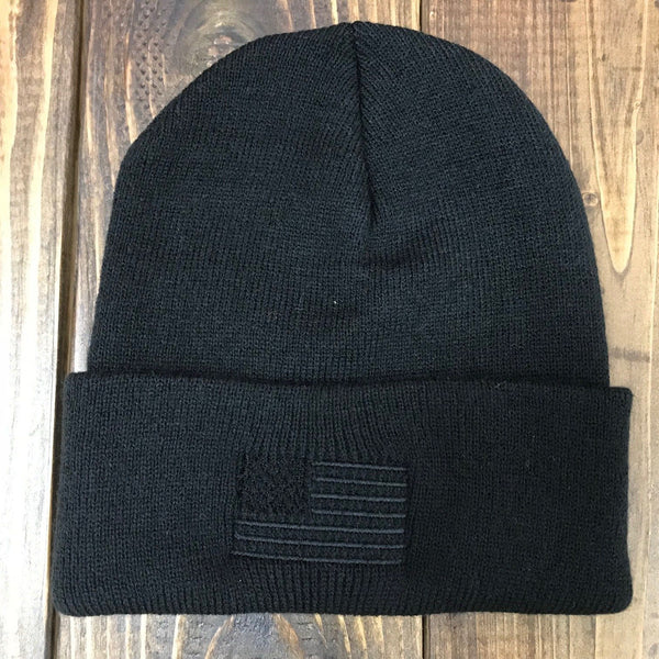 Blackout Flag Folded Beanie