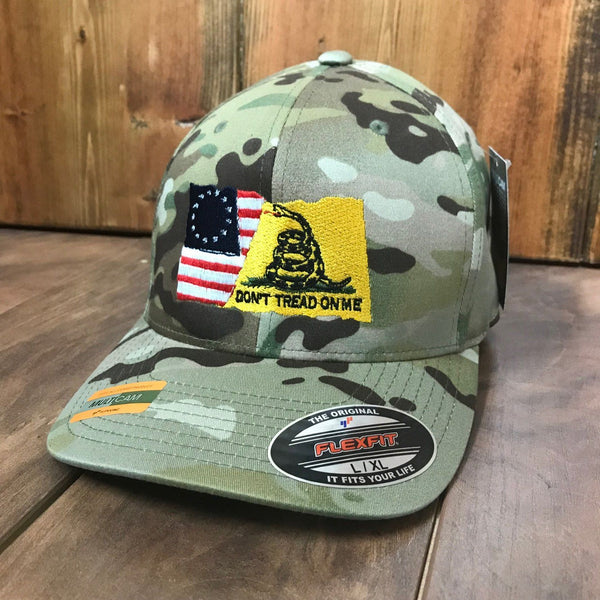 Betsy Ross/Gadsden Flexfit Multicam Flag Hat