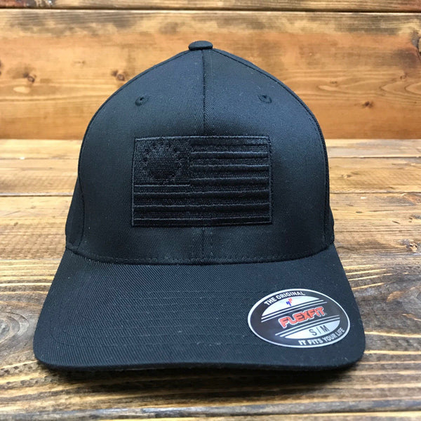 The Betsy Ross Blackout Flexfit Flag Hat