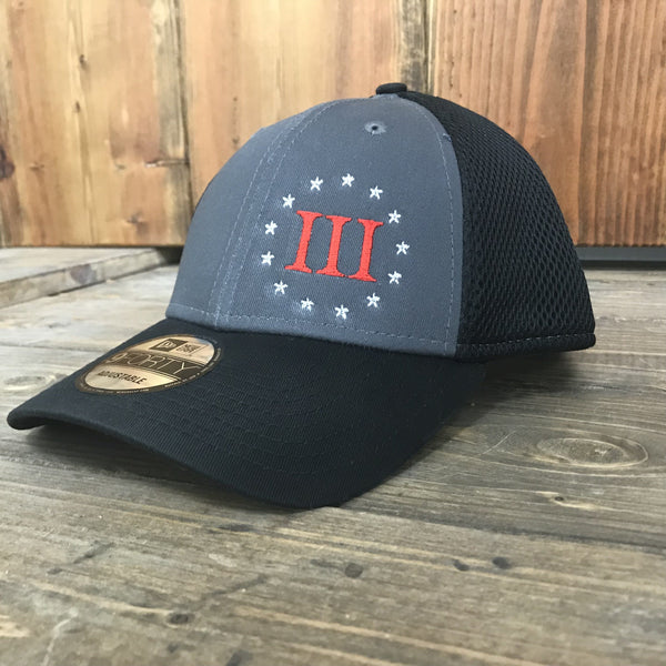 Threeper Stretch Mesh Adjustable Trucker Hat