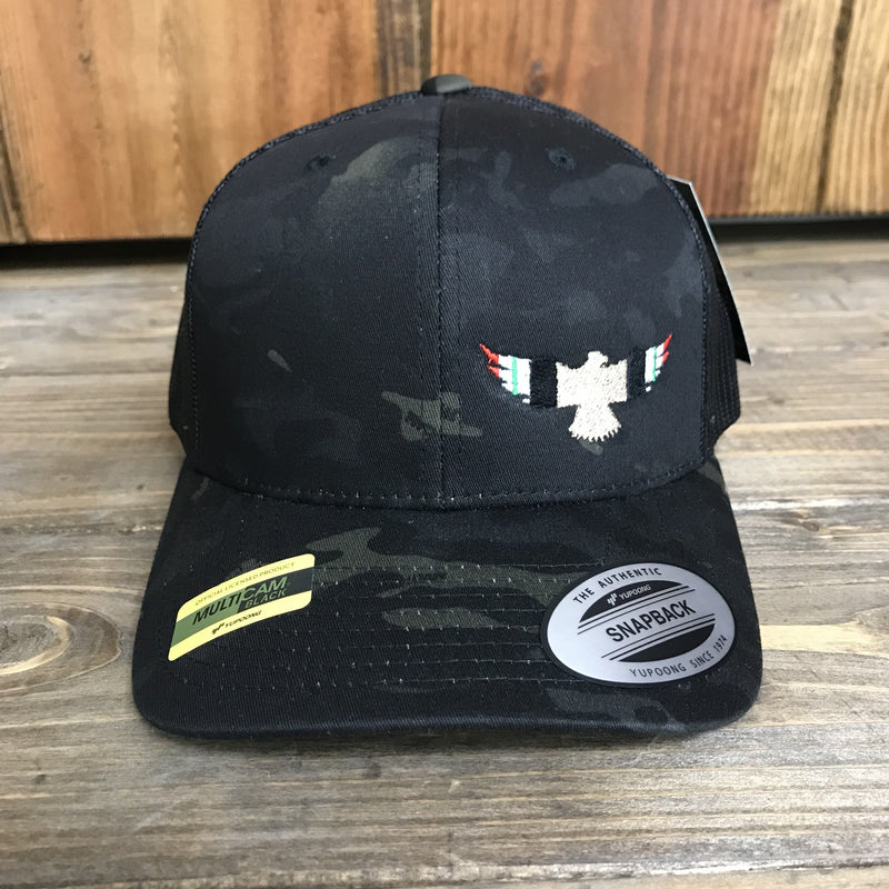 Iraq Ribbon Military Eagle Trucker Hat