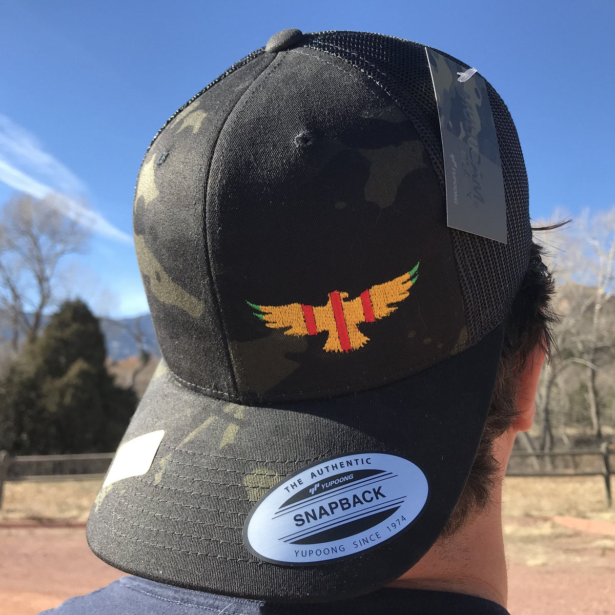 Vietnam Ribbon Military Eagle Trucker Hat